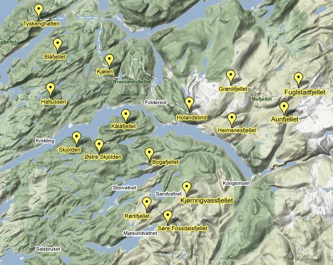 kart nærøy kommune Fjelltopper i Nærøy | Kaakenmagasinet kart nærøy kommune