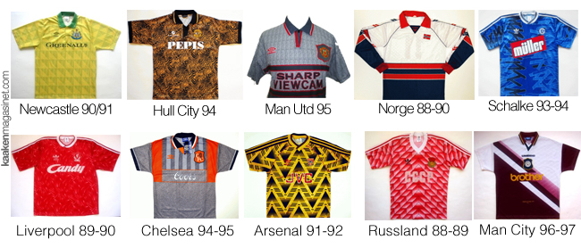 Ugly football shirts